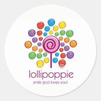Adesivo Redondo Lollipoppie - amores do deus do sorriso você!