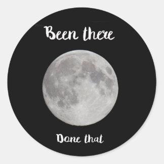 Adesivo Redondo Lua cheia, estado lá, feita isso!
