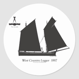 Adesivo Redondo lugger do país 1887 ocidental - fernandes tony