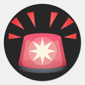 Adesivo Redondo Luz Emoji do alerta vermelho
