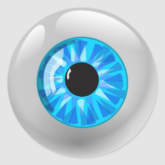 Adesivo Redondo Luz - globo ocular azul