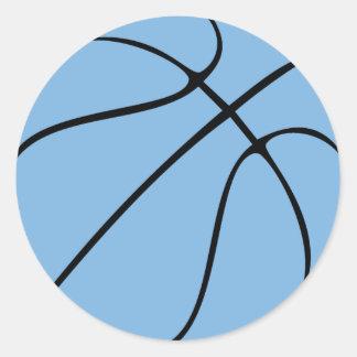 Adesivo Redondo Luz/partido ou álbum de recortes azul basquetebol