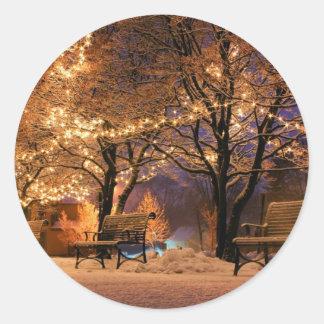 Adesivo Redondo luzes de Natal