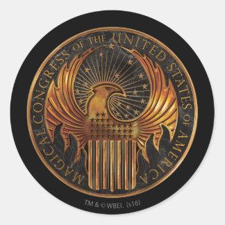 Adesivo Redondo M.A.C.U.S.A. Medalhão