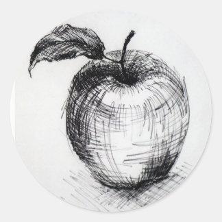 Adesivo Redondo maçã