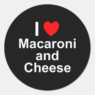 Adesivo Redondo Macarrão e queijo