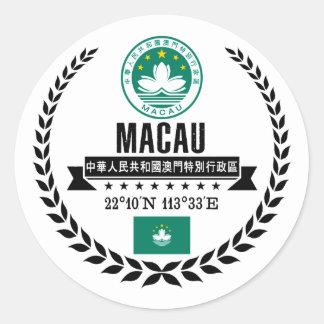 Adesivo Redondo Macau