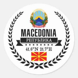 Adesivo Redondo Macedónia