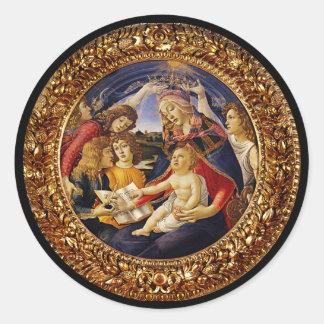 Adesivo Redondo Madonna del Magnificat