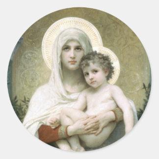 Adesivo Redondo Madonna dos rosas