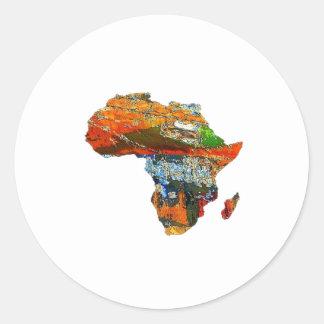 Adesivo Redondo Mãe África