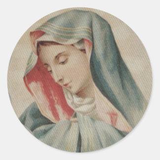 Adesivo Redondo Mãe dolorosa Mary Mater Dolorosa