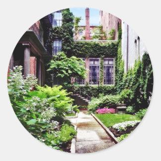 Adesivo Redondo MÃES de Boston - jardim escondido