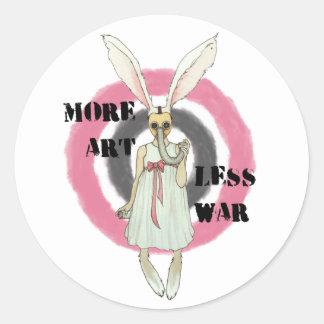 Adesivo Redondo Mais arte menos guerra