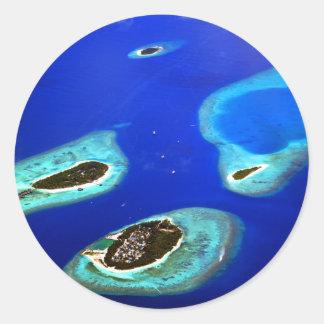 Adesivo Redondo Maldives