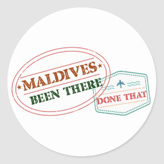 Adesivo Redondo Maldives feito lá isso