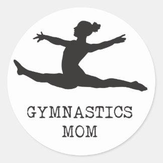 Adesivo Redondo Mamã da ginástica