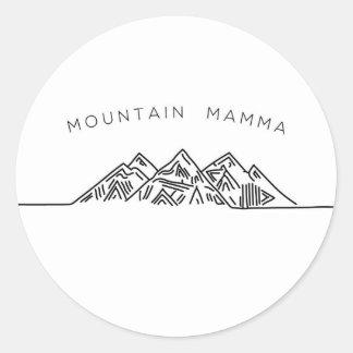 Adesivo Redondo Mamães da montanha