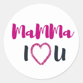 Adesivo Redondo Mamães eu te amo