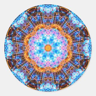 Adesivo Redondo Mandala abstrata brilhante da energia
