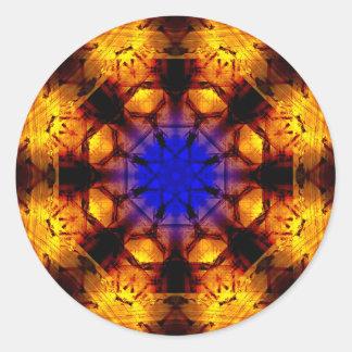 Adesivo Redondo Mandala azul do núcleo