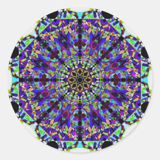 Adesivo Redondo Mandala colorida de Mosaïc