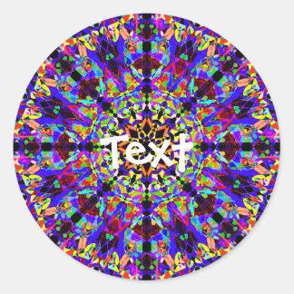 Adesivo Redondo Mandala colorida do mosaico