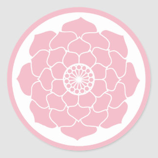 Adesivo Redondo Mandala cor-de-rosa de Lotus