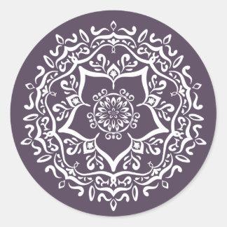 Adesivo Redondo Mandala da ameixa