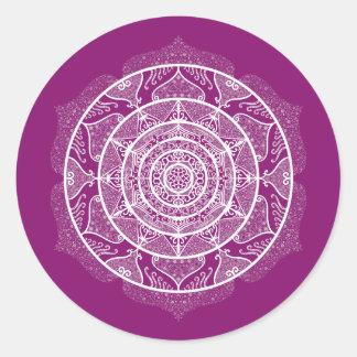 Adesivo Redondo Mandala da dália