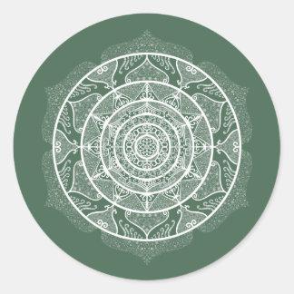 Adesivo Redondo Mandala da floresta