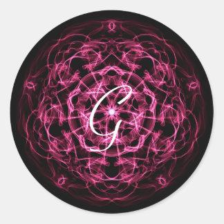 Adesivo Redondo Mandala da galáxia. monograma