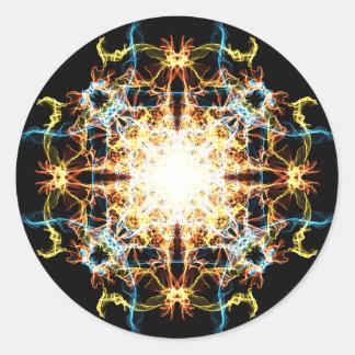 Adesivo Redondo Mandala da iluminação