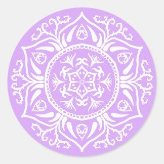 Adesivo Redondo Mandala da lavanda