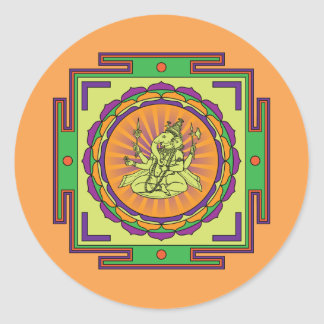 Adesivo Redondo Mandala de Ganesha