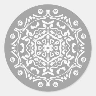 Adesivo Redondo Mandala de pedra