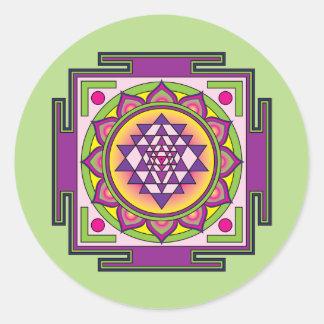 Adesivo Redondo Mandala de Sri Yantra