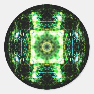 Adesivo Redondo Mandala de vidro detalhada do efeito