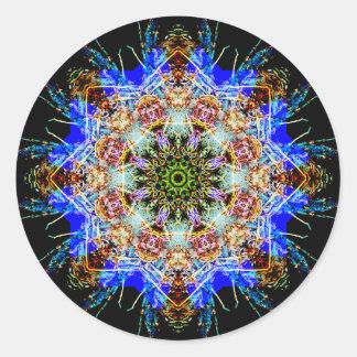 Adesivo Redondo Mandala detalhada colorida