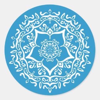 Adesivo Redondo Mandala do Bluebird