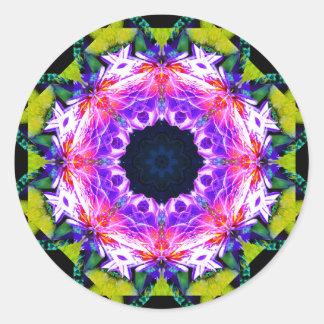 Adesivo Redondo Mandala do efeito da flor