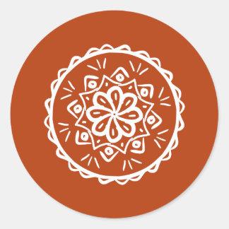 Adesivo Redondo Mandala do Henna