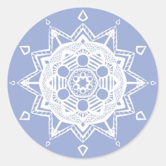 Adesivo Redondo Mandala do mirtilo