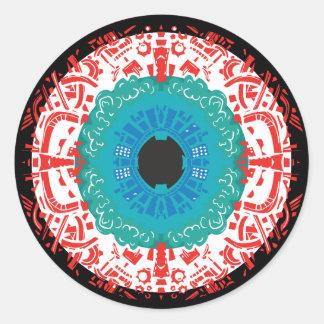 Adesivo Redondo Mandala do olho