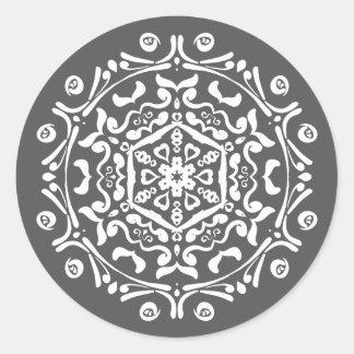 Adesivo Redondo Mandala do peixe-boi