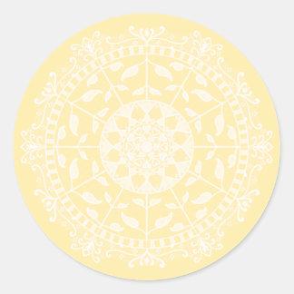 Adesivo Redondo Mandala do pergaminho