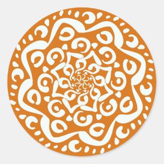 Adesivo Redondo Mandala do tarte de abóbora