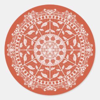 Adesivo Redondo Mandala do Terracotta