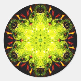 Adesivo Redondo Mandala especial do efeito do sapo