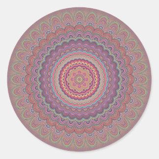 Adesivo Redondo Mandala geométrica do Hippie